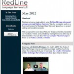RedLine's May newsletter: interview, recent projects, and social media