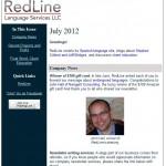RedLine newsletter, July 2012