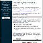 RedLine's September/October newsletter: Client testimonials and a dying Mexican language