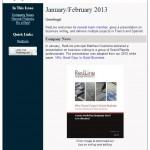 RedLine's January-February 2013 newsletter