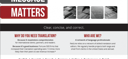 translation company brochure